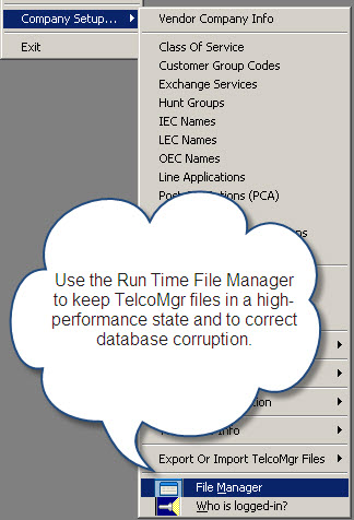 TelcoMgr File Manager